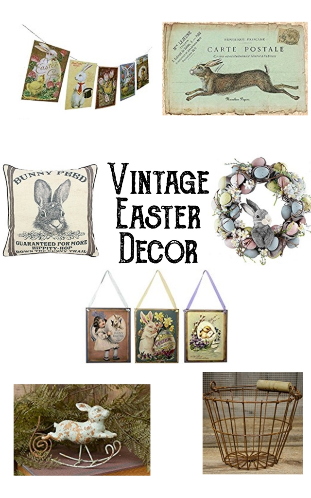 Vintage Easter decor, easter decor, vintage decor, vintage spring decor, spring decor, antique easter, easter wall hanging, easter wreath, easter placemats, egg basket, easter banner