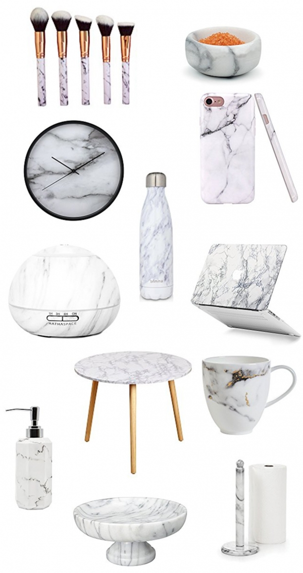 Marble style accessories