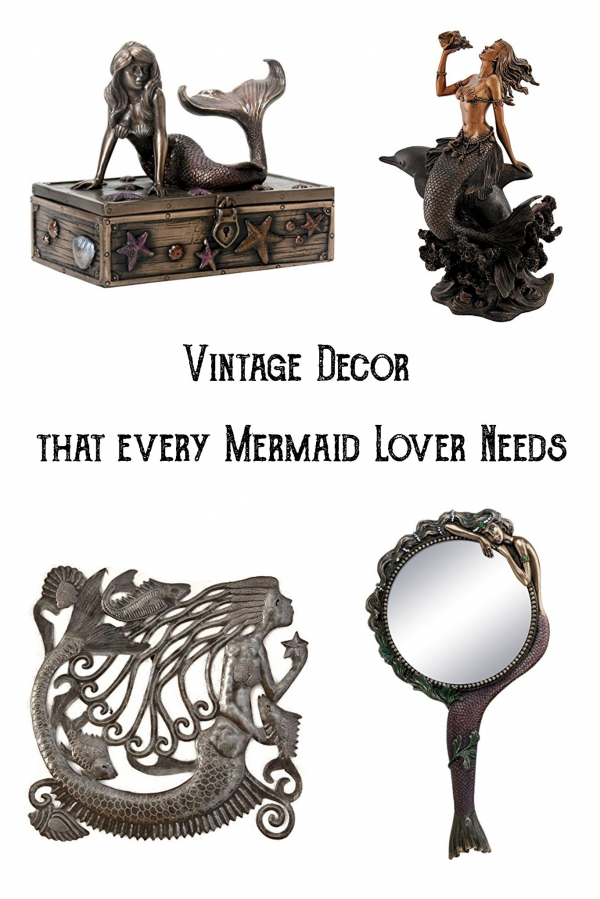 Vintage mermaid decor, vintage mermaid, metal mermaid decor, iron mermaid decor, bronze mermaid decor, antique mermaid, mermaid decor, mermaids, mermaid lover, mermaid gifts