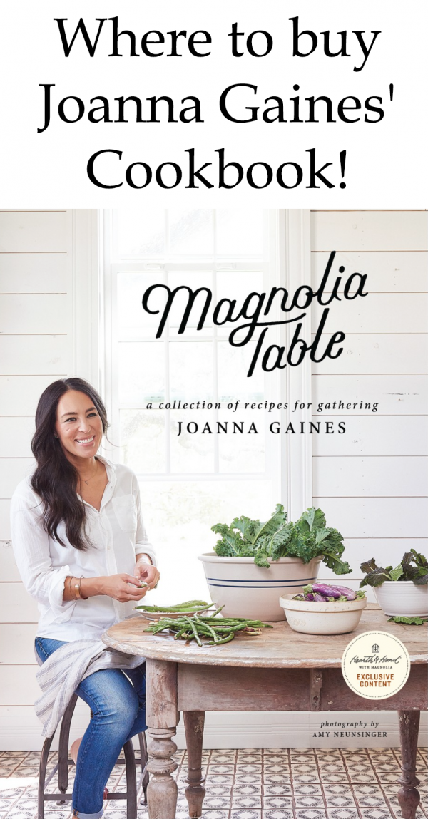 Where to buy Joanna Gaines' Cookbook!
