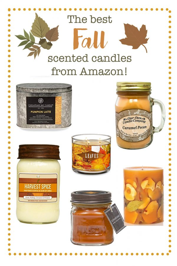 Fall Scented Candles from Amazon!