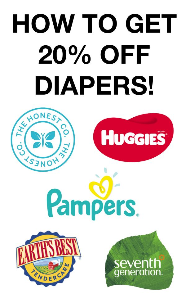 How to get 20% off Diapers!