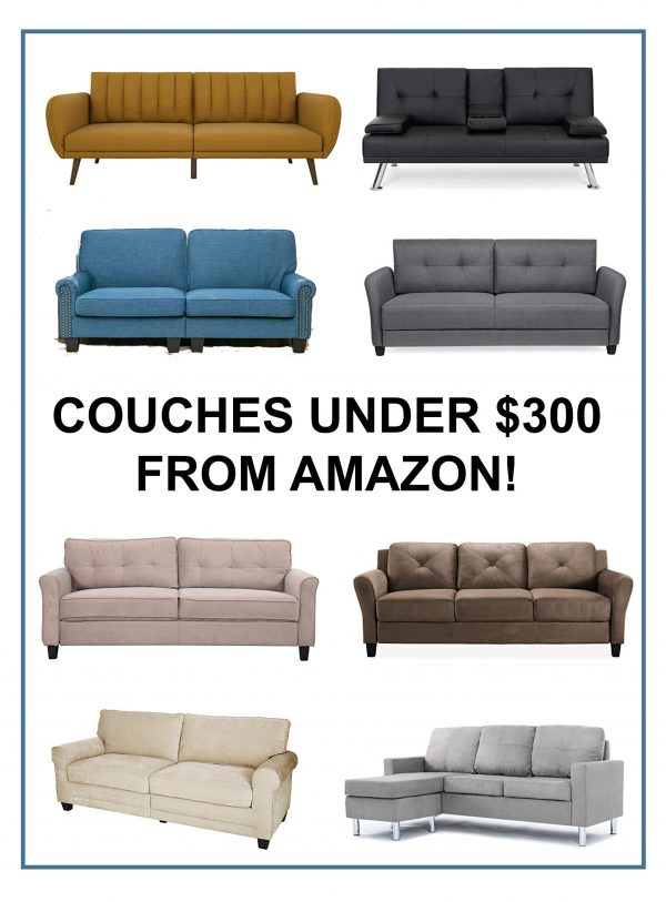 Couches under $300 from Amazon!