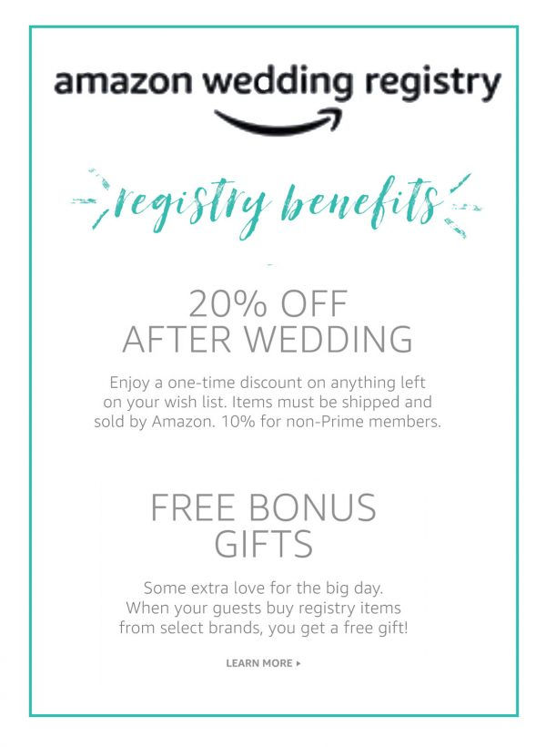 Amazon Wedding Registry Benefits