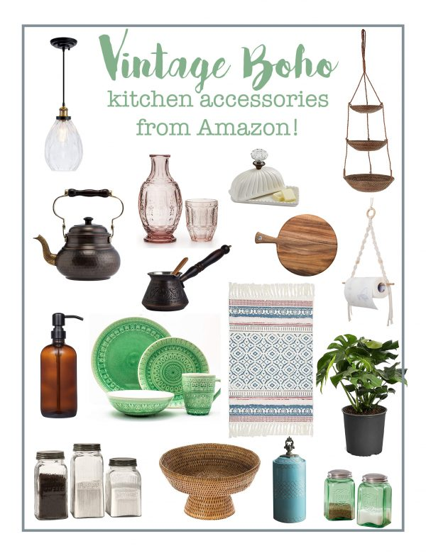 Boho Kitchen Accessories from Amazon!